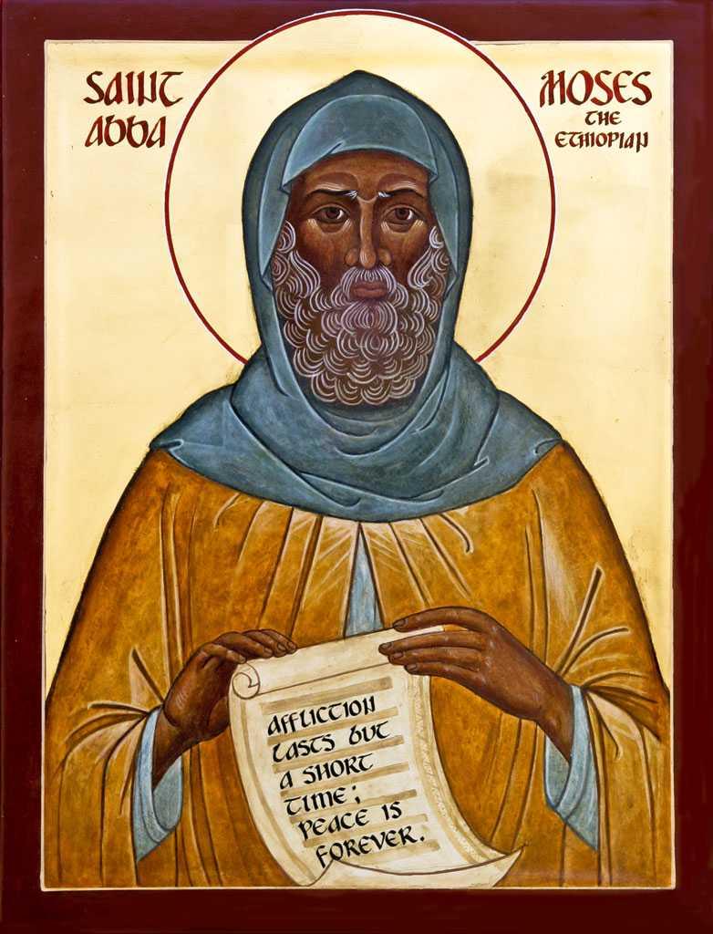 Abba Moïse l'Éthiopien, moine de Scété, et sa trajectoire de sanctification