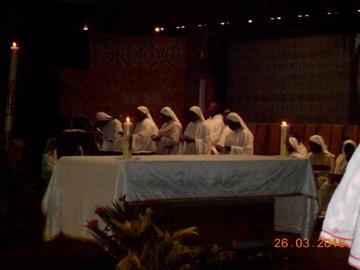 Semaine Sainte 2016 présidée par le P. Abbé d'En Calcat